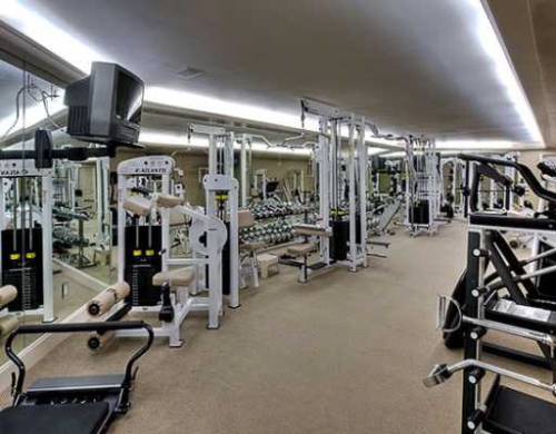 The gym you'll never use. If you don't change the T.V. We'll judge you.